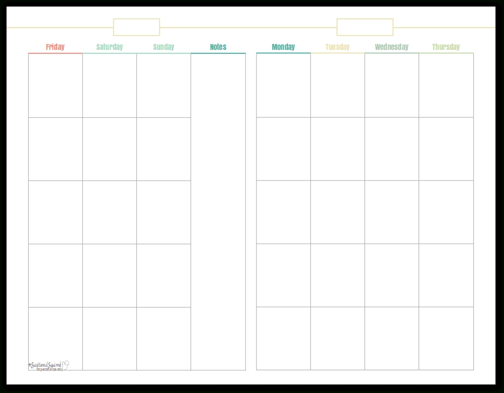 Introducing My New Blog Planner Printables!!! - Scattered-Blank Printable Monthly Calendar With No Dates