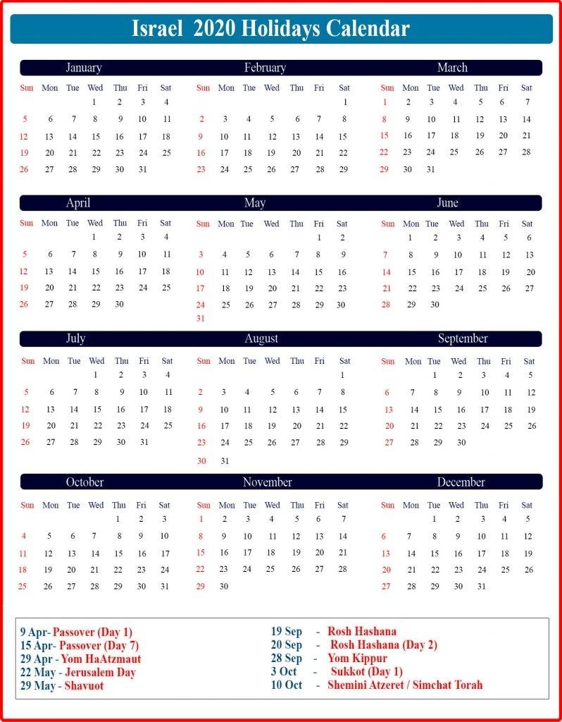 Israel Holidays Calendar 2020   Israel Jewish Holidays 2020-Jewish Holidays In October 2020