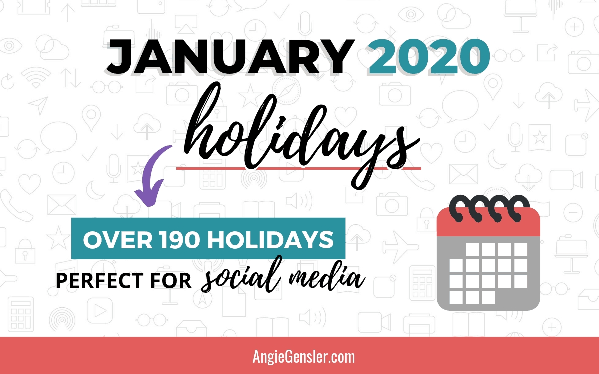 January 2020 Holidays + Fun, Weird And Special Dates - Angie-September 2020 Daily Holidays Special And Wacky Days