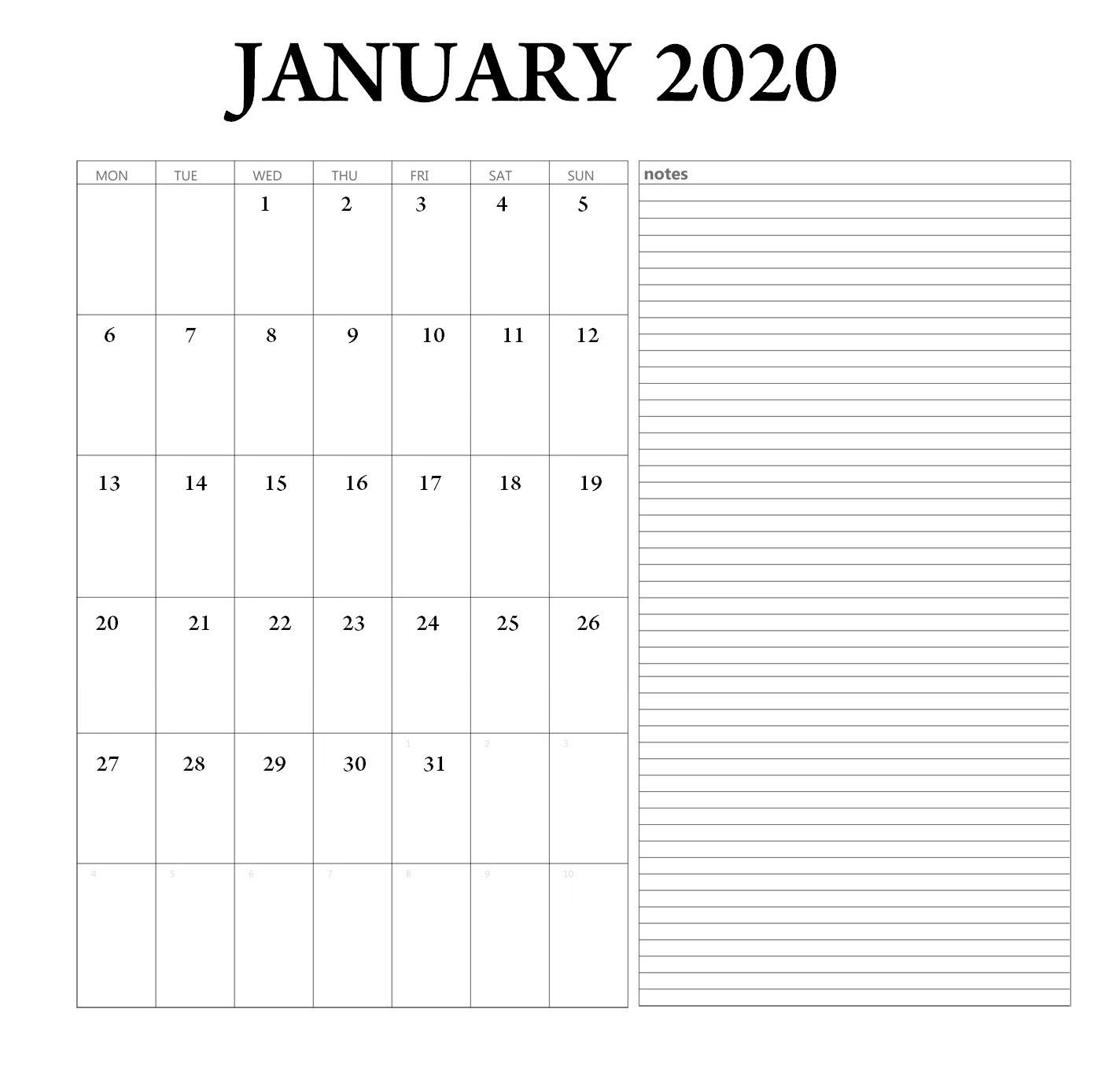 January 2020 Printable Calendar | Latest Calendar-Blank I-9 Form Printable 2020