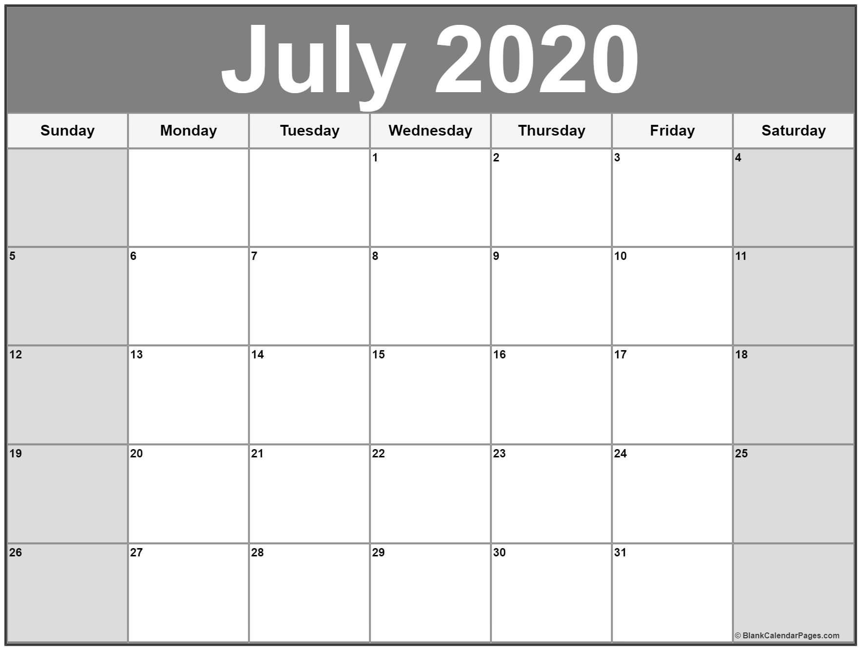 July 2020 Printable Calendar Template #2020Calendars-Disney Printable Calendar 2020 Monthly