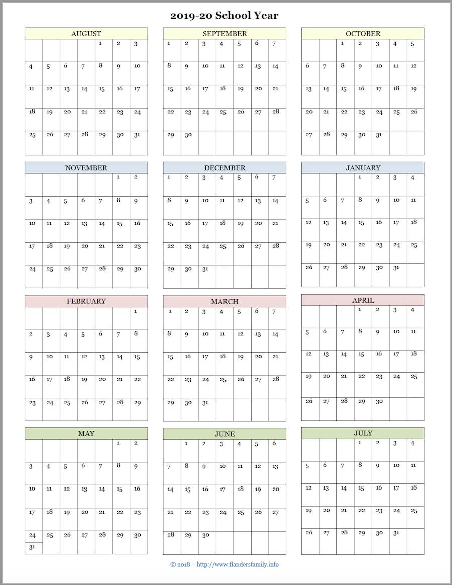 Mailbag Monday: More Academic Calendars (2019-2020-Printable 2020 Attendance Calendar Template