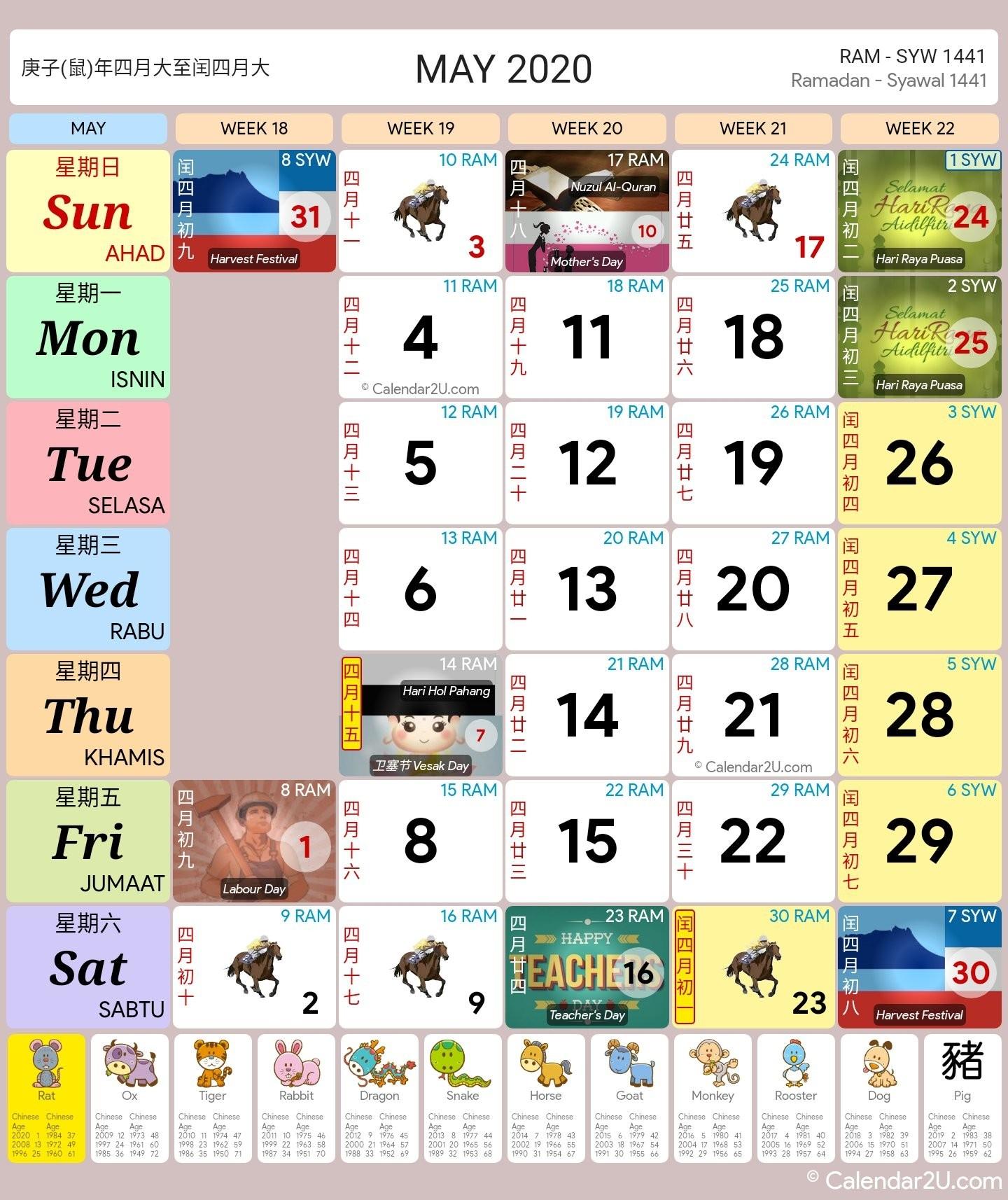 Malaysia Calendar Year 2020 (School Holiday) - Malaysia Calendar-Malaysia School Holidays 2020