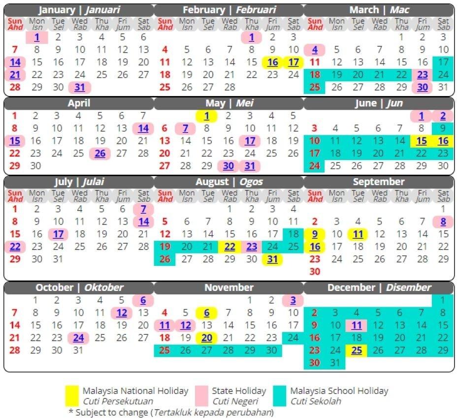 March 2019 Calendar Malaysia #march #march2019Calendar-Malaysia School Holidays 2020