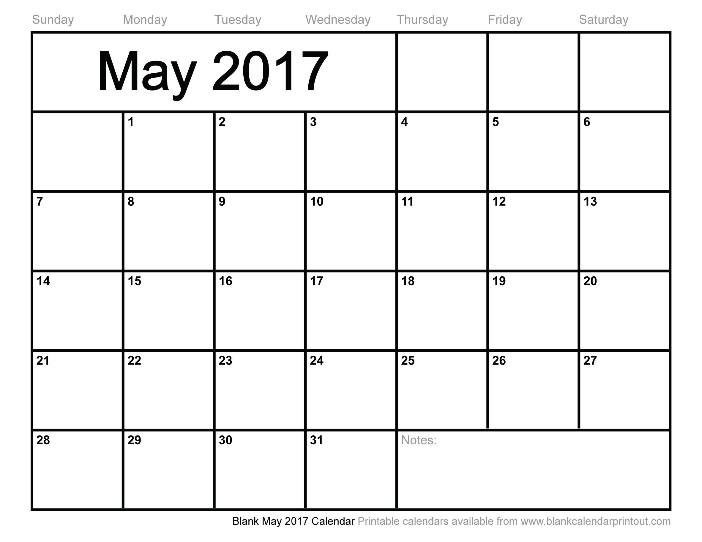 May 2017 Calendar Vertex 3 - Free Printable Calendar, Blank-Calendar Templates By Vertex