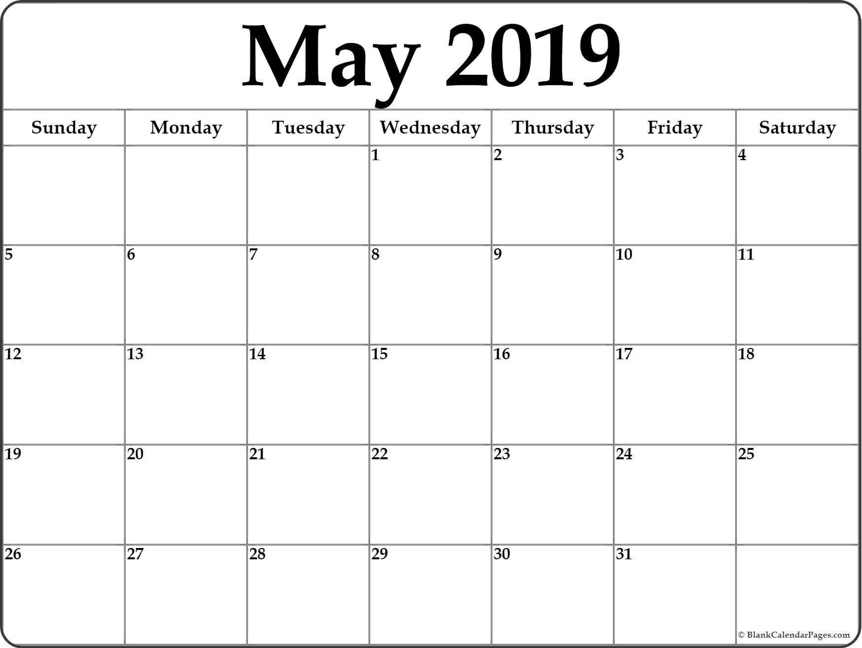 May 2019 Calendar | Free Printable Monthly Calendars-At A Glance Monthly Calendar Printable
