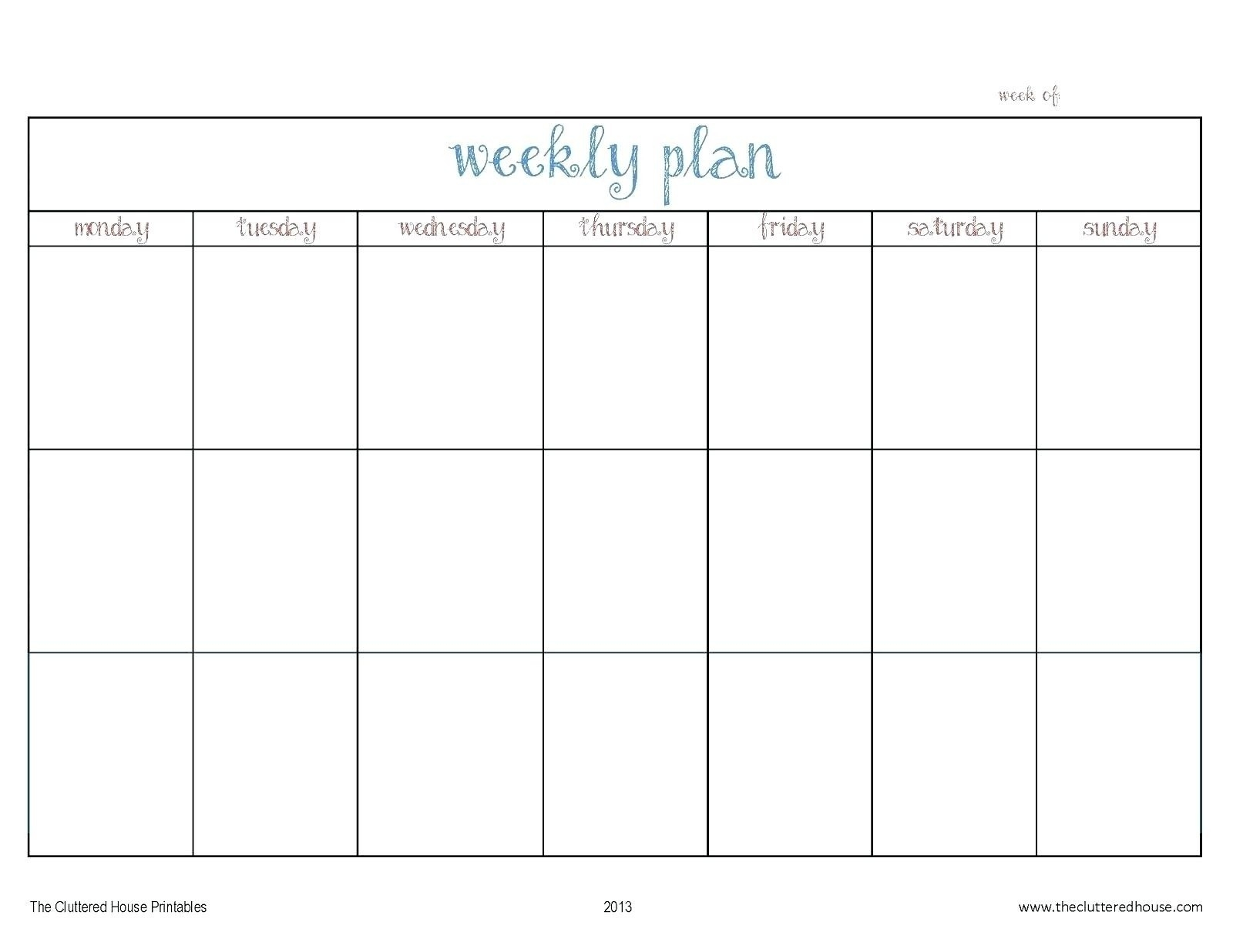 Monday To Friday Calendar - Wpa.wpart.co-Free Printable Monday-Friday Monthly Calendar