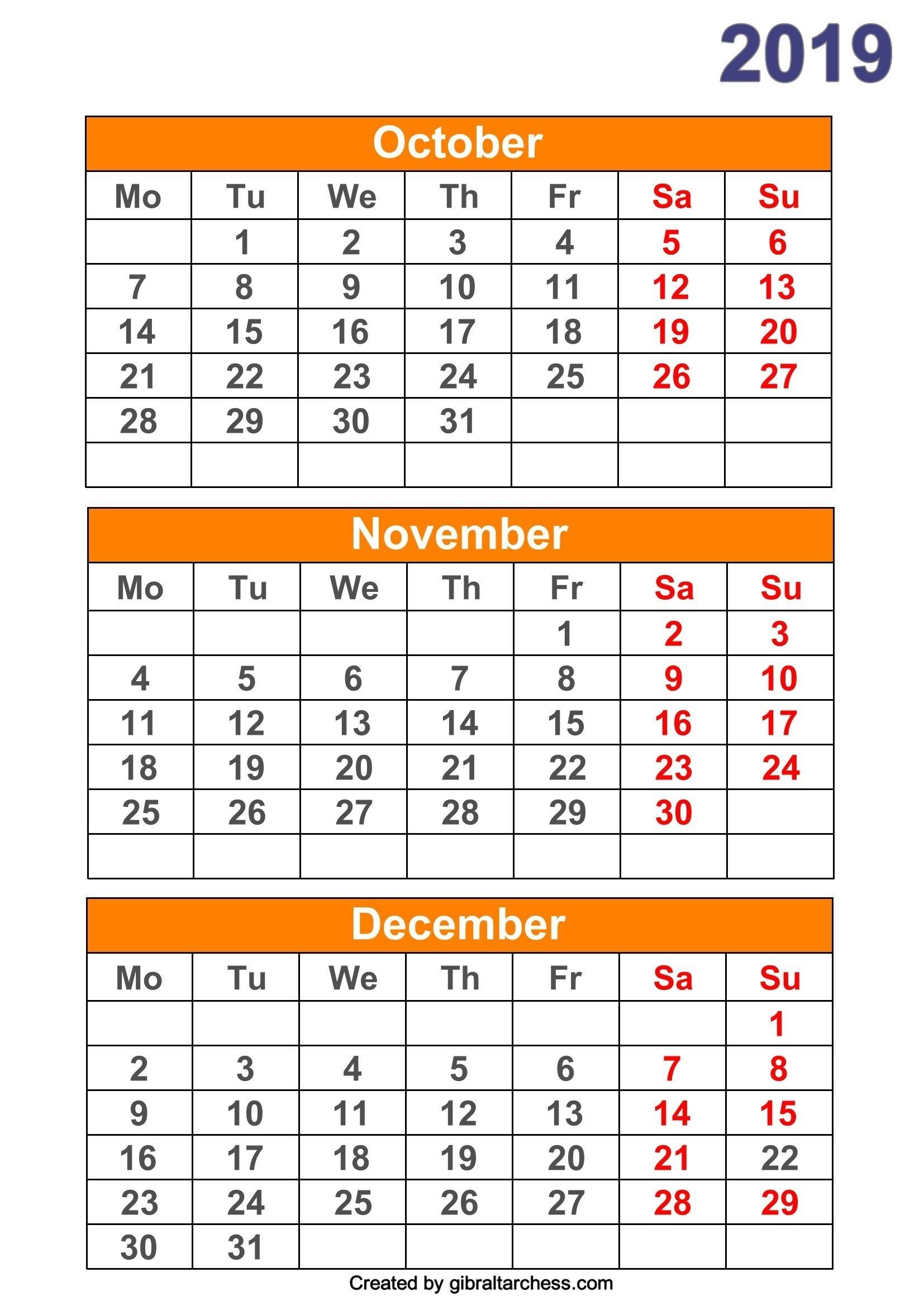Month Per Page Calendar - Wpa.wpart.co-Calendar Templates 3Months Per Page
