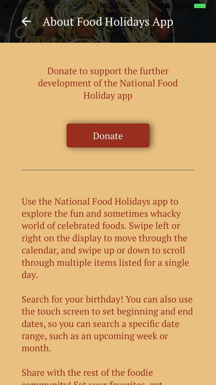 National Food Holidays For Android - Apk Download-National Food Holidays Calendar Download