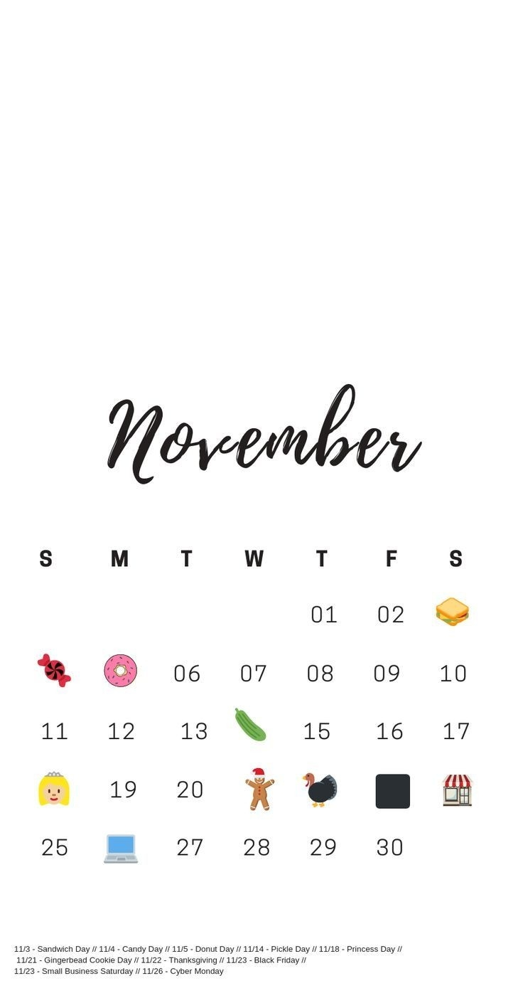 November National Days | November National Days, National-National Food Holidays Calendar Download