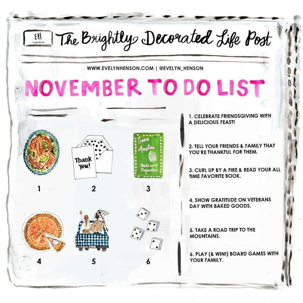 November To Do List | Months In A Year, November, Daily Holidays-List By Month Of All Holidays