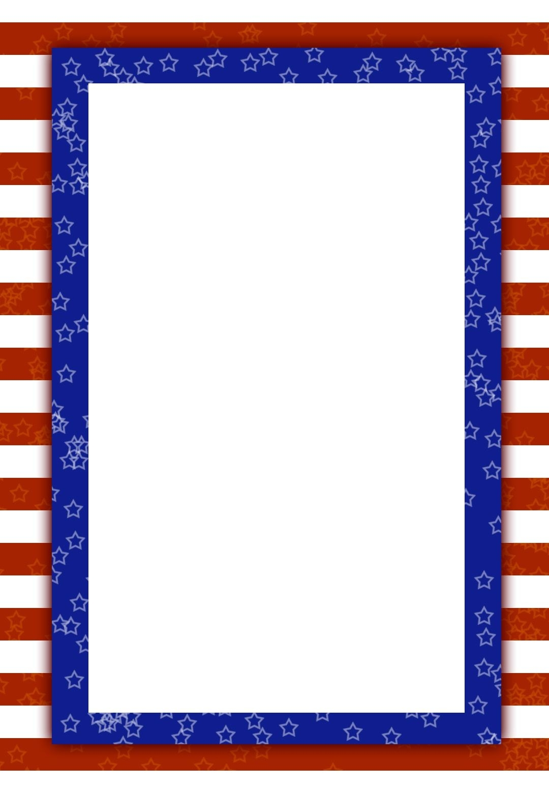 Patriotic - 4Th Of July Invitation Template (Free-July 4Th Closed Sign Template