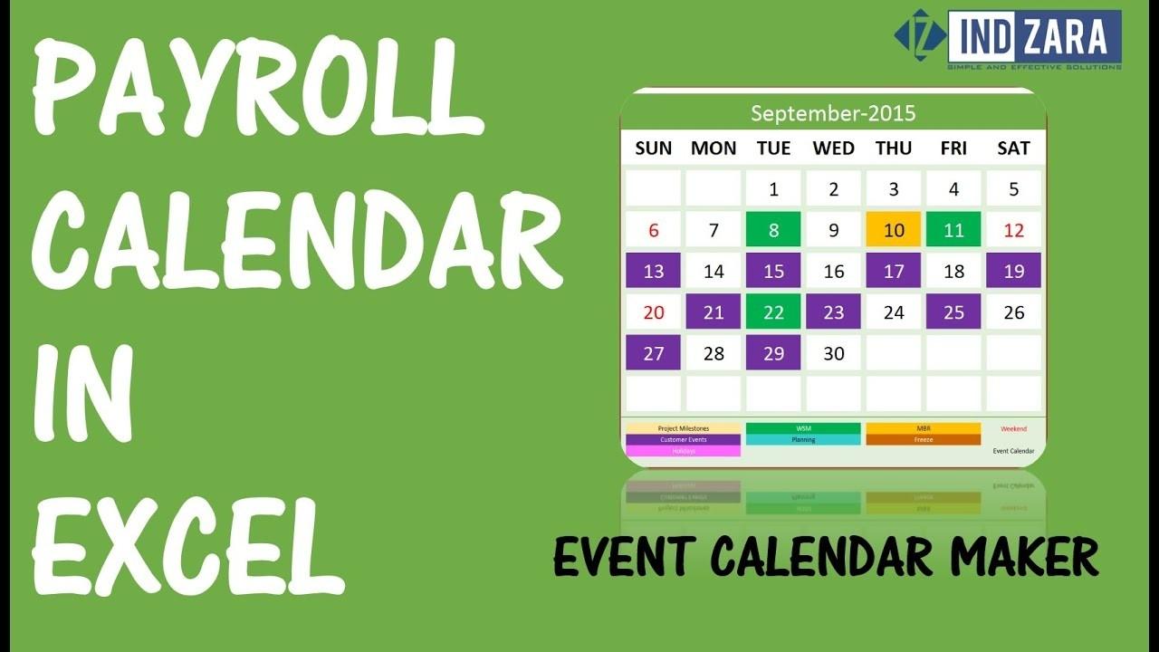 Payroll Calendar Using Event Calendar Maker Excel Template-Biweekly Payroll Schedule Template 2020