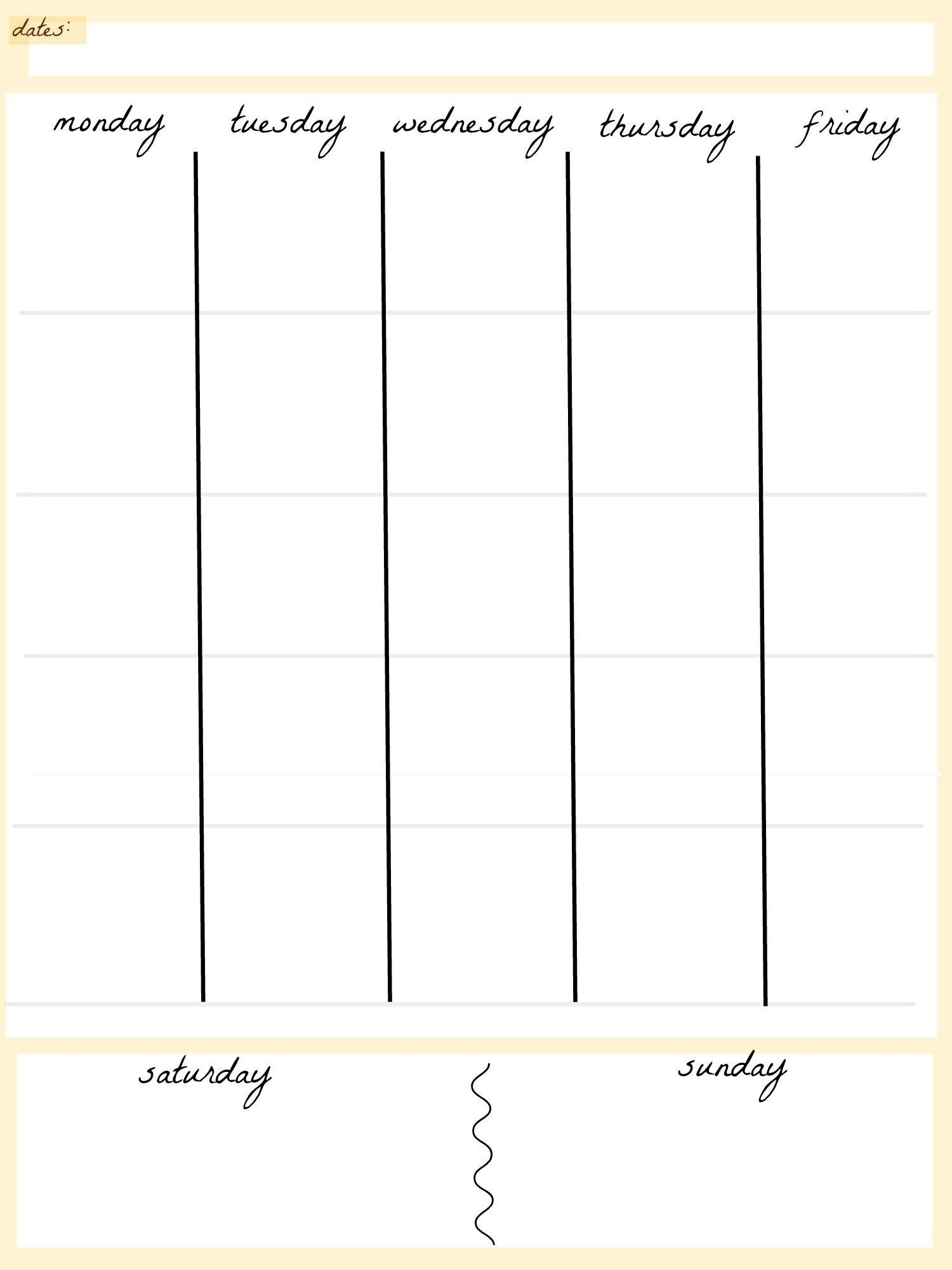 Pin By Calendar Printable Gee On New Calendar Printable-5 Day Blank Calendar