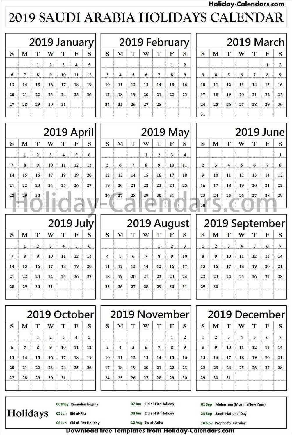 Pin By Holiday Calendars On Holidays Calendar 2019 | Bank-Saudi Bank Holidays 2020