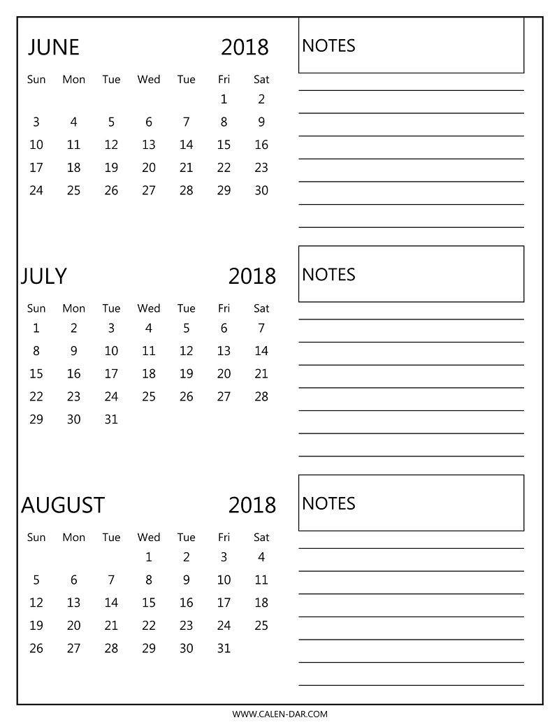 Pinterest 3 Month Calendar Print Out - Calendar Inspiration-July To August Monthly Calendar