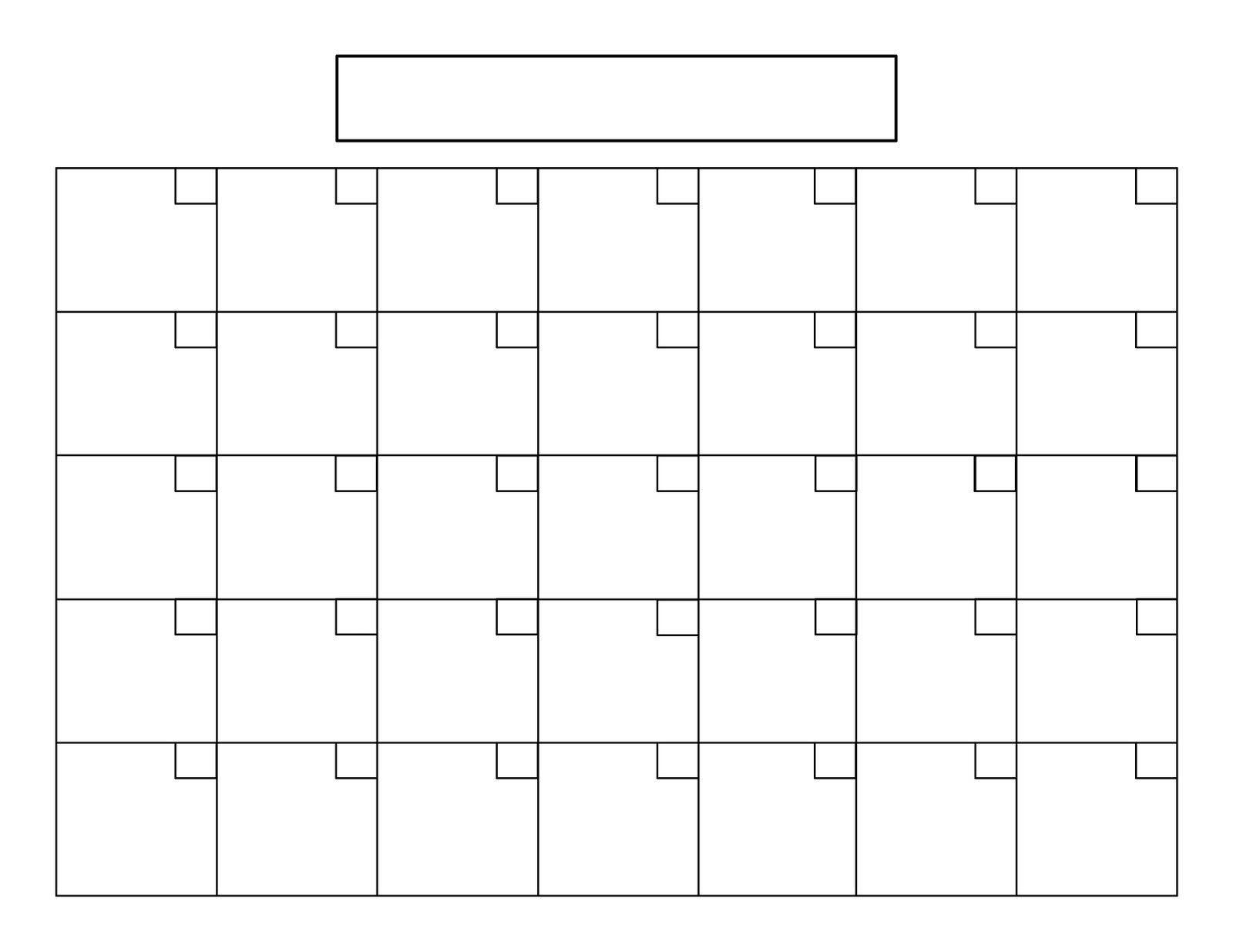 Printable 5 Day Calendar | Printable Blank Calendar, Blank-5 Day Monthly Calendar Printable