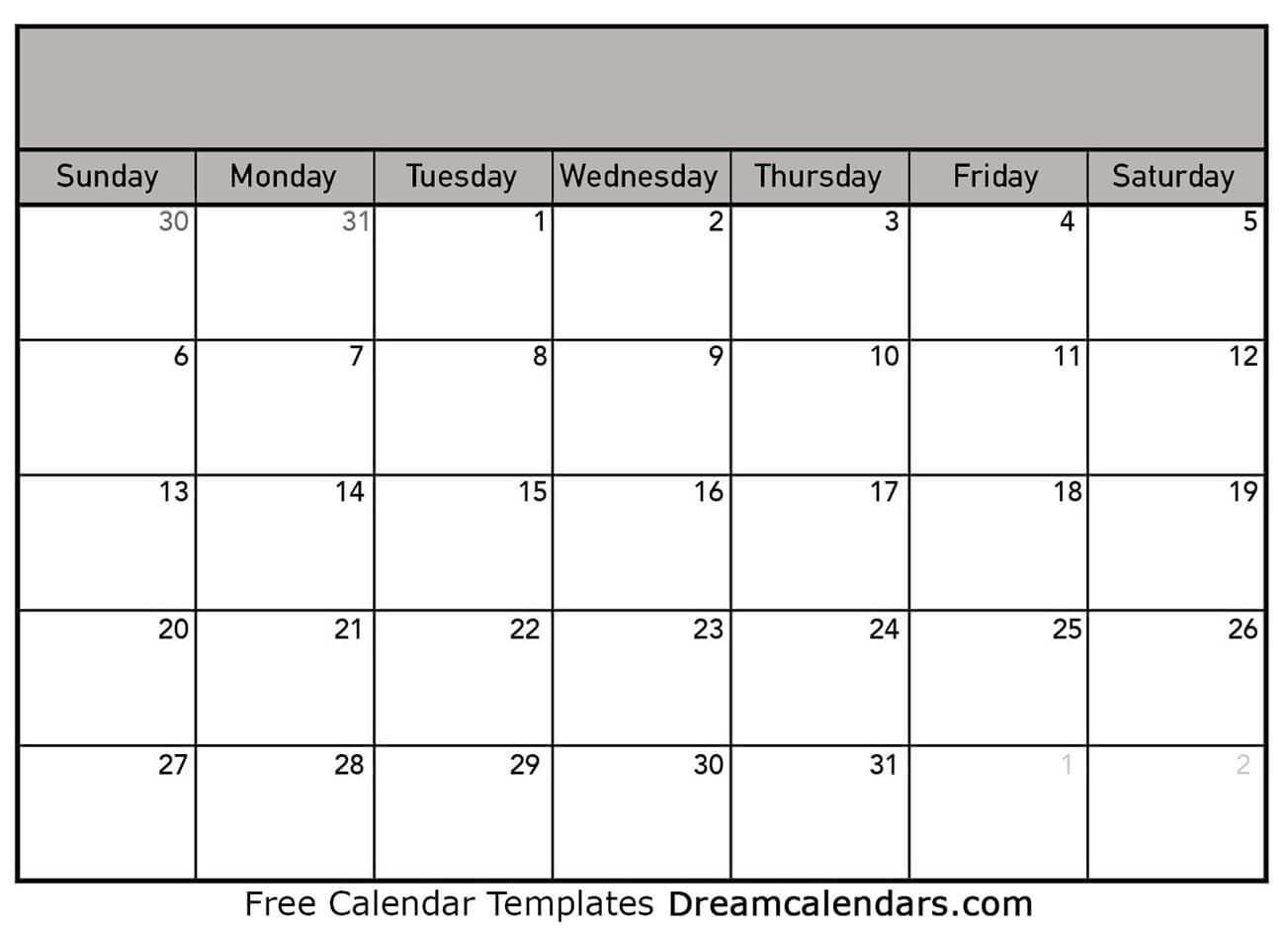 Printable Blank Calendar 2020 | Dream Calendars-Blank Calendar 4 Months