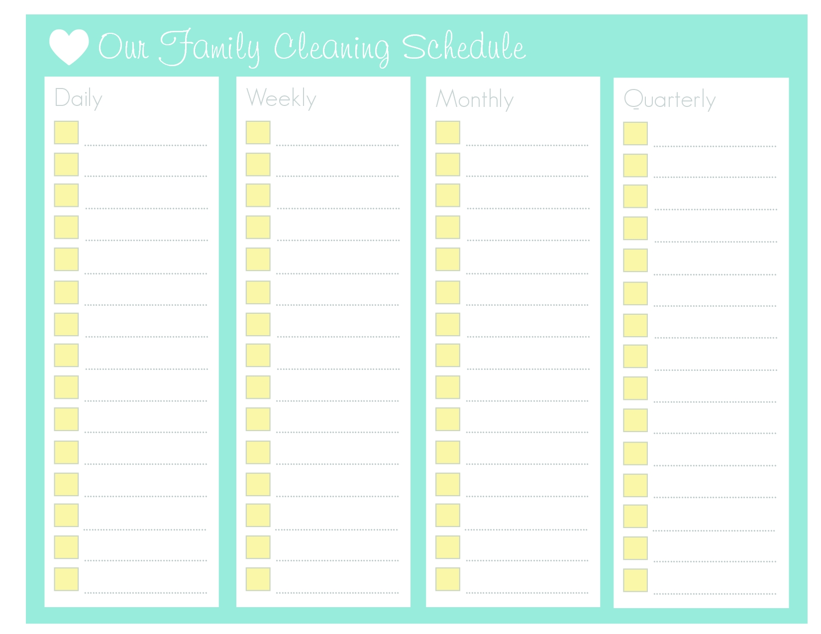 Printable Blank Monthly Chore Daily Checklist - Google-Blank Monthly Checklist Printable