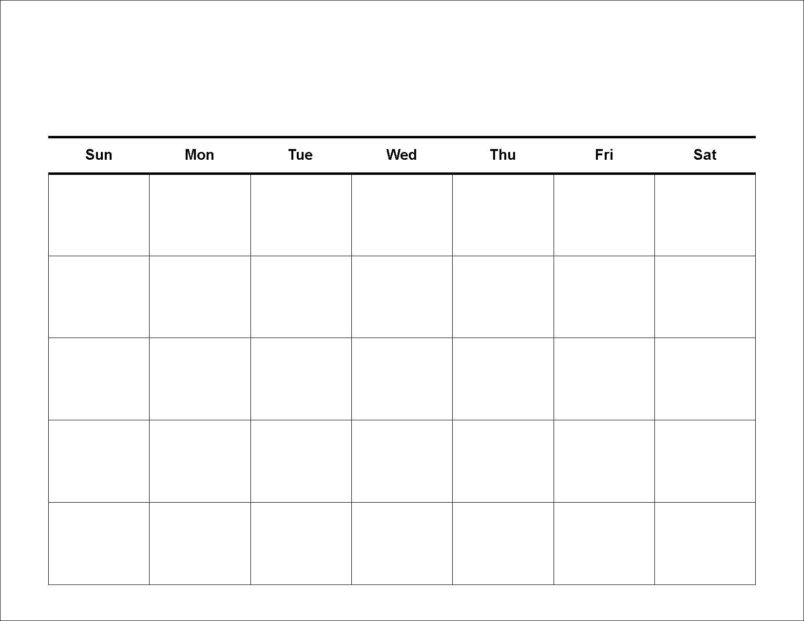Printable Calendar Grid Leonescapersco Free 2 Week Blank-Printable Monthly Calendar Grid