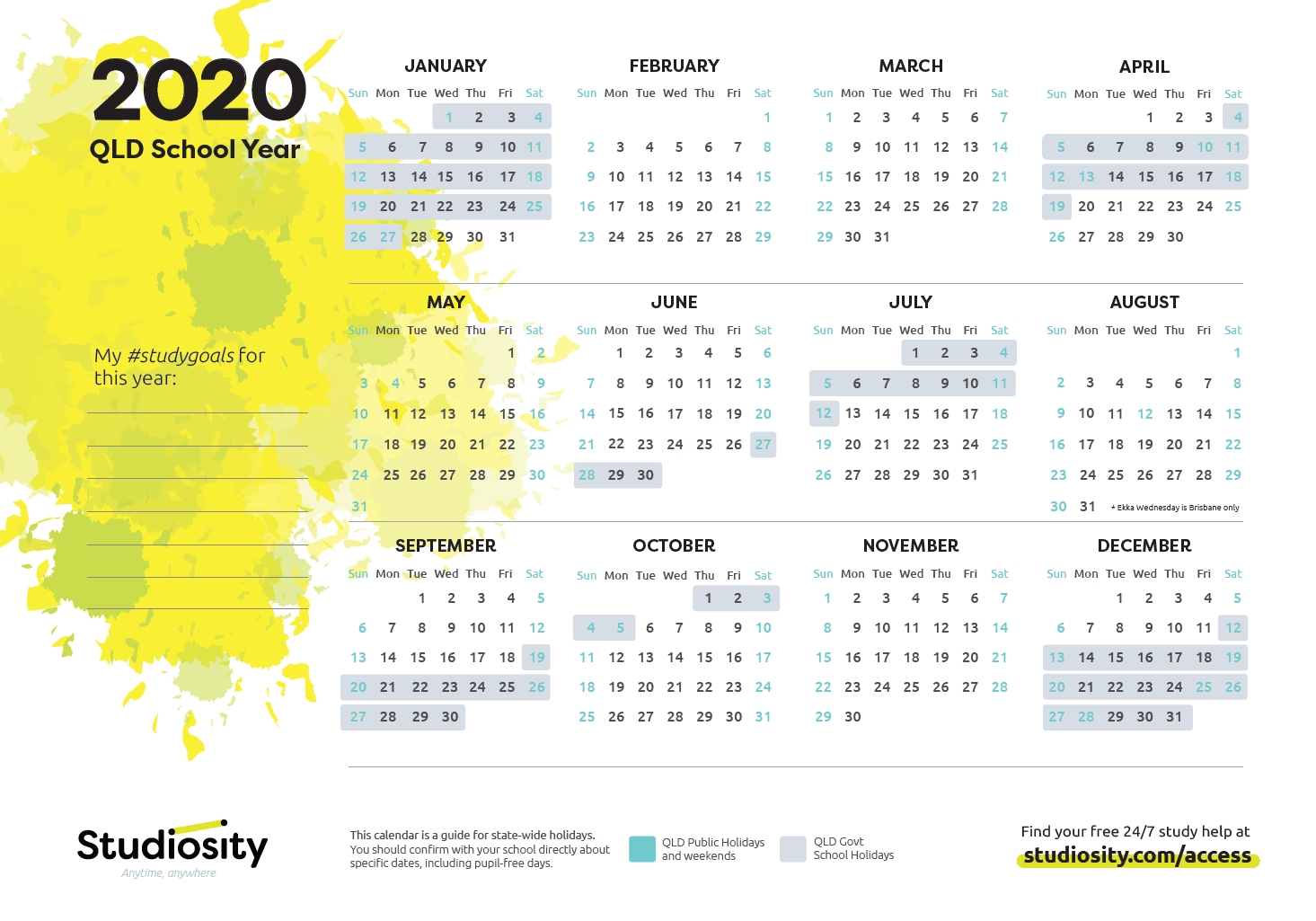 School Terms And Public Holiday Dates For Qld In 2020-2020 Printable Qld School Holidays