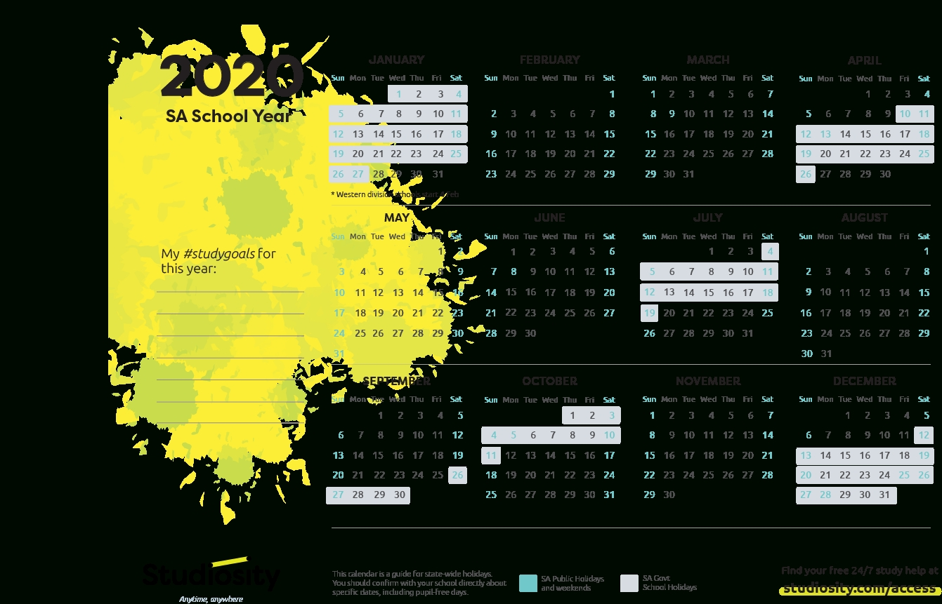 School Terms And Public Holiday Dates For Sa In 2020-S A Public Holidays 2020