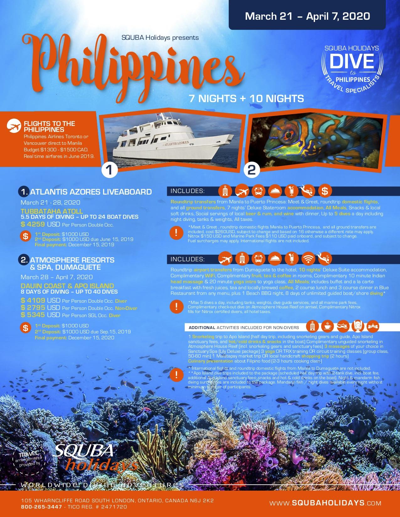 Scuba Holidays Philippines March-April 2020 | Scuba Holidays-Holidays To The Philipines In March 2020