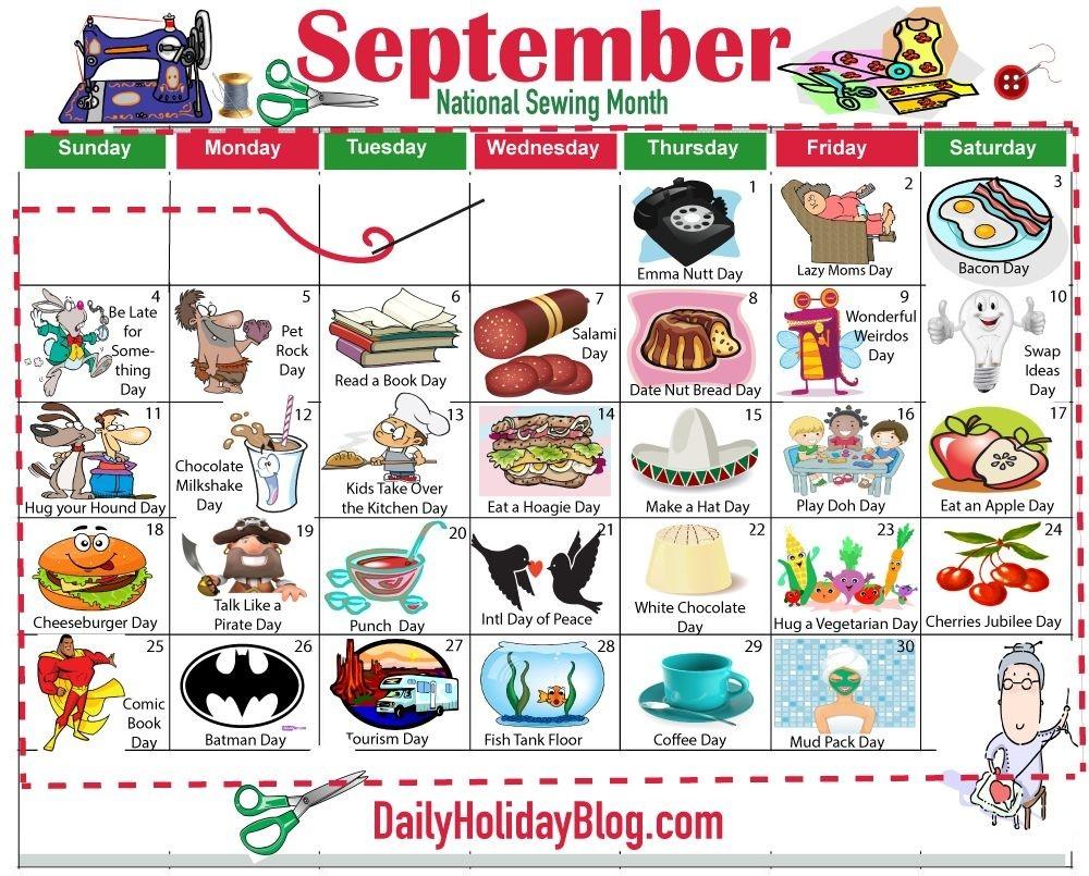 September Holiday Calendar | September Holidays, Holiday-September 2020 Daily Holidays Special And Wacky Days