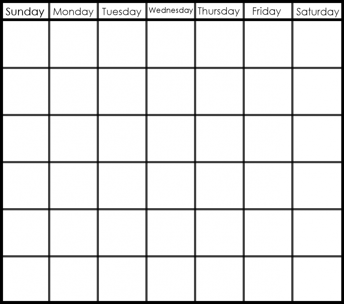 Six Week Calendar Template - Wpa.wpart.co-8 Week Blank Calendar Printable