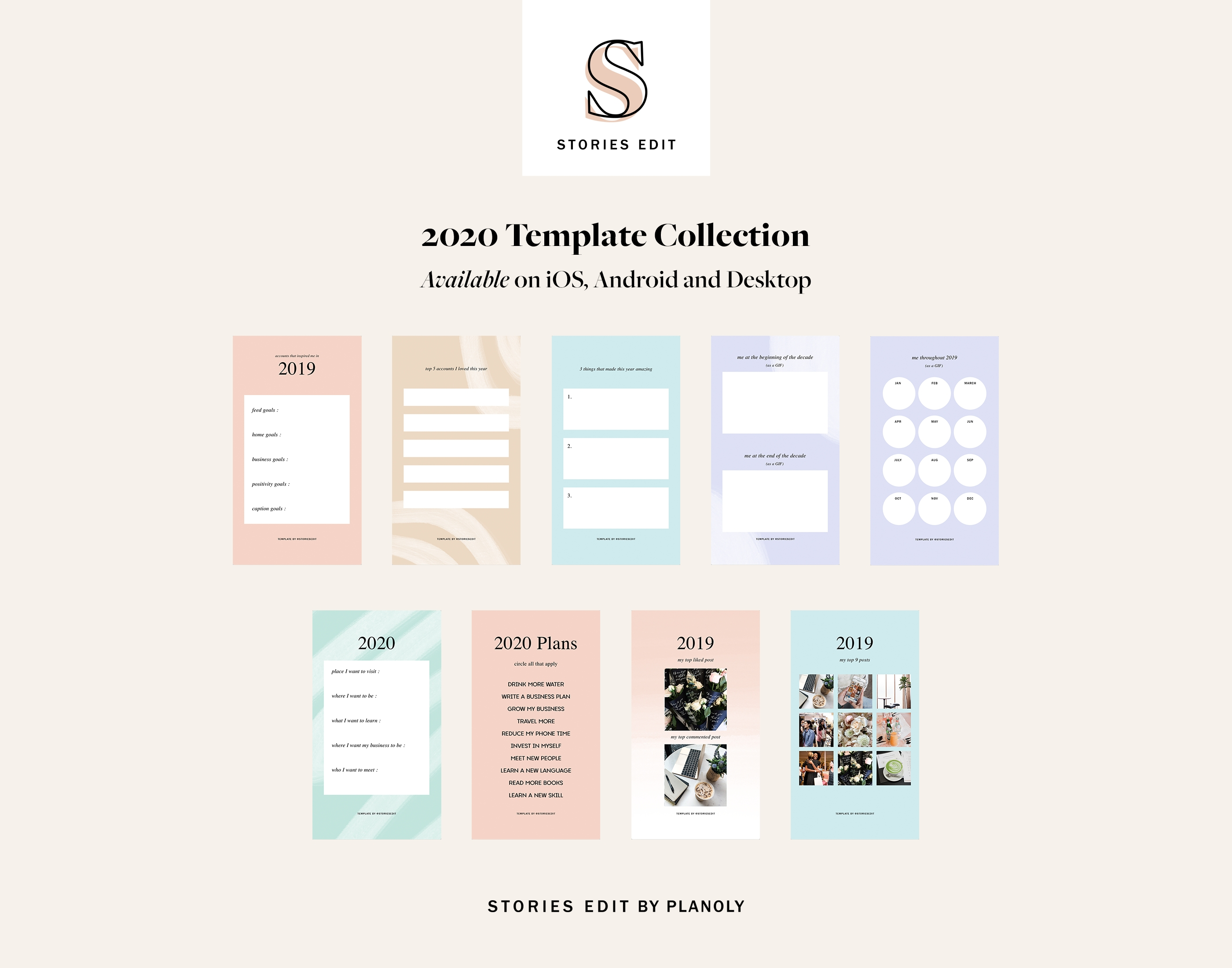 Storiesedit 2020: How To Use Our Templates Collection-Blog Post Schedule Template 2020