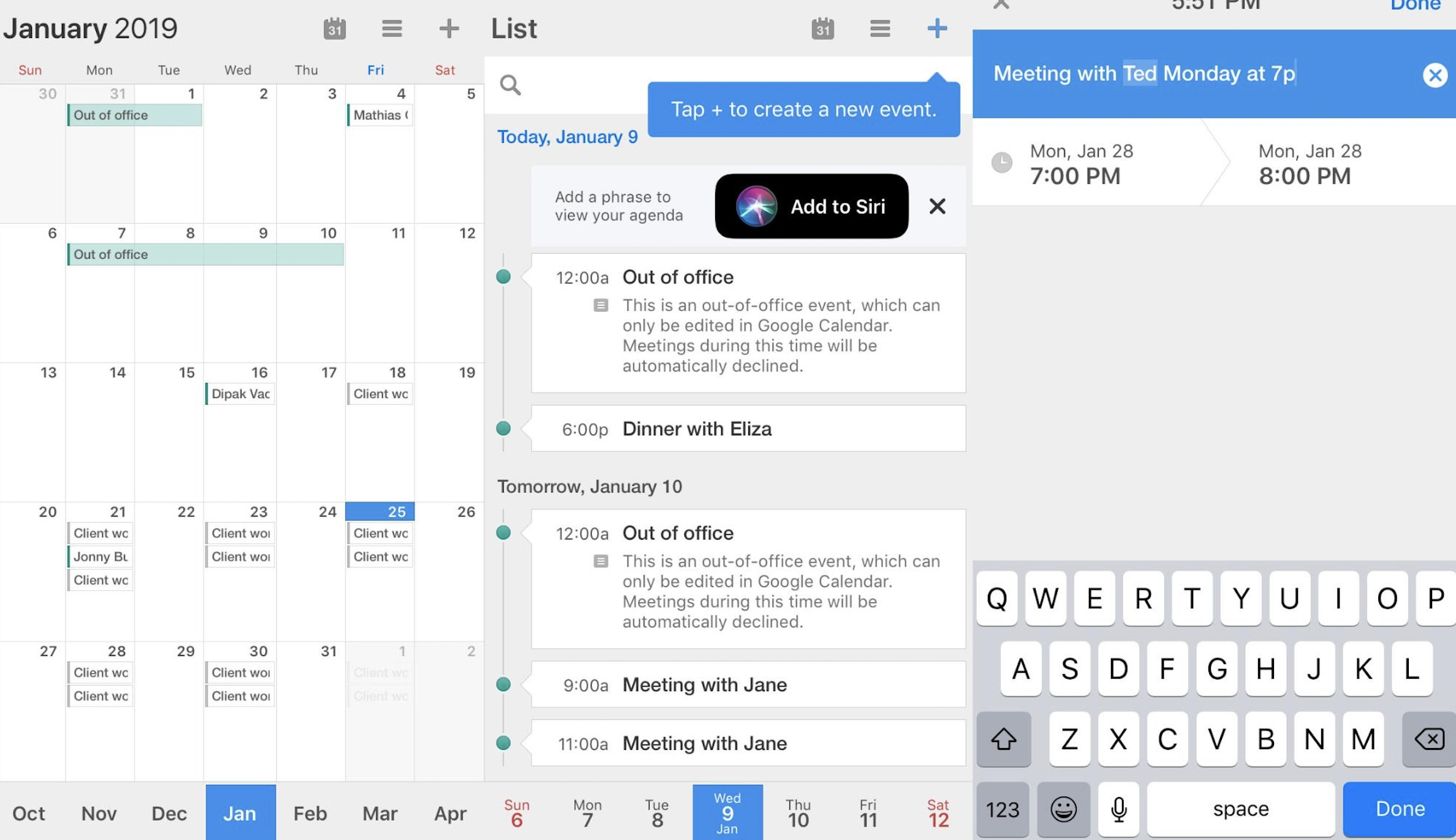 The 12 Best Calendar Apps For Iphone In 2019-Monthly View Iphone Calendar