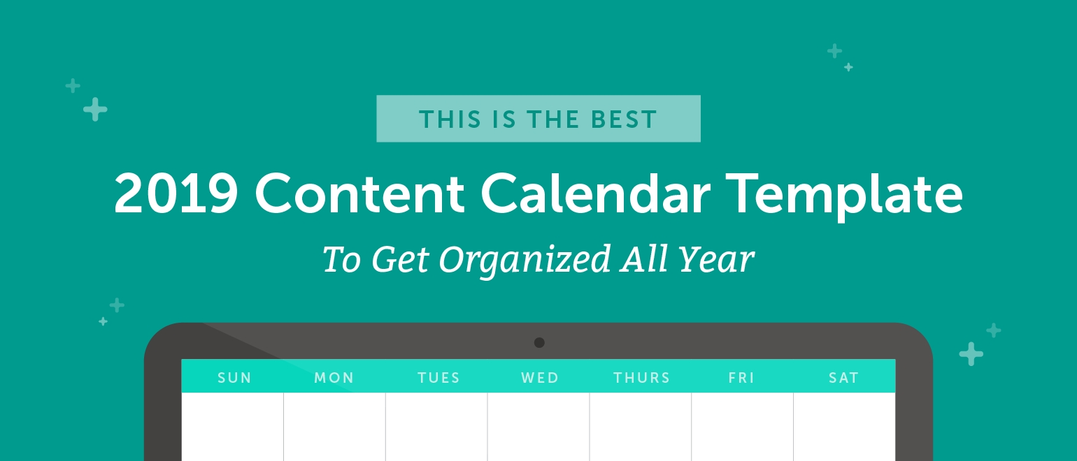 The Best 2020 Content Calendar Template: Get Organized All Year-Monthly Wellness Topics 2020