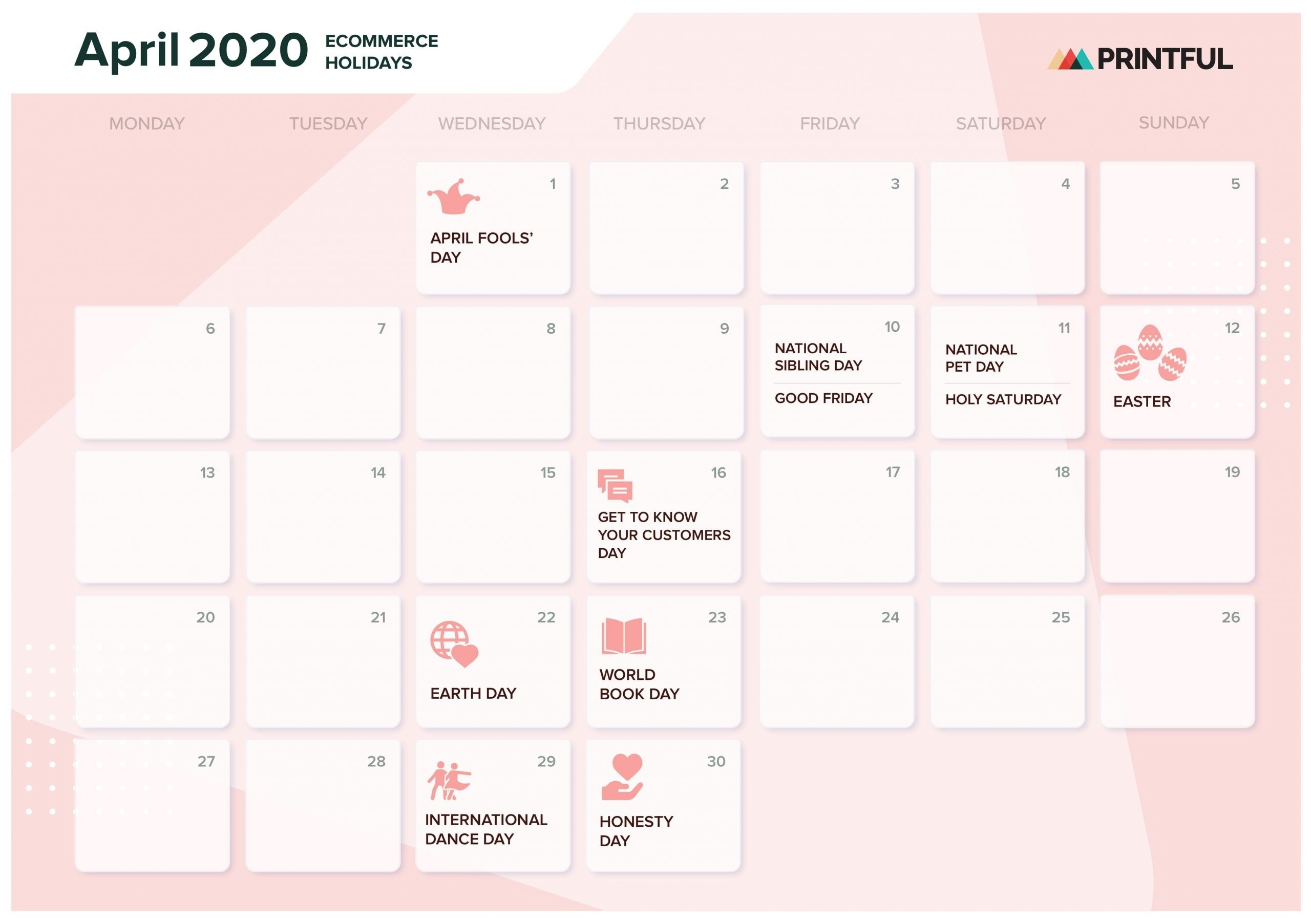 The Ultimate 2020 Ecommerce Holiday Marketing Calendar-Calendar For 2020 Indicating Public Holidays