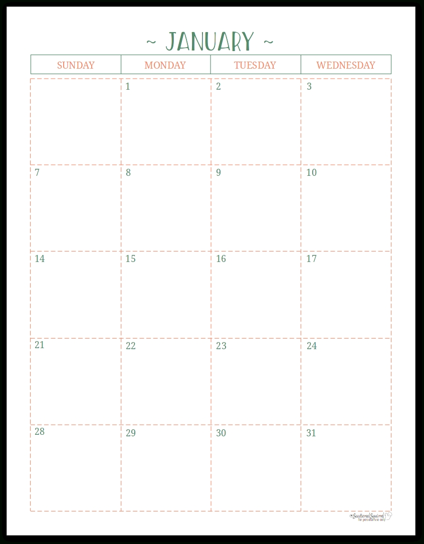 Two Page Per Month 2018 Dated Calendars Are Ready-Printable Monthly Calendar 5X8