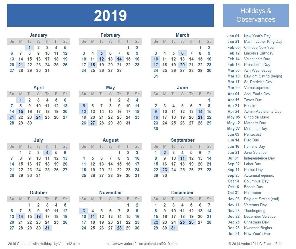 Unique Calendar 2019 Uk Printable – Delightful To Be Able To-Blank Qld Calendar 2020