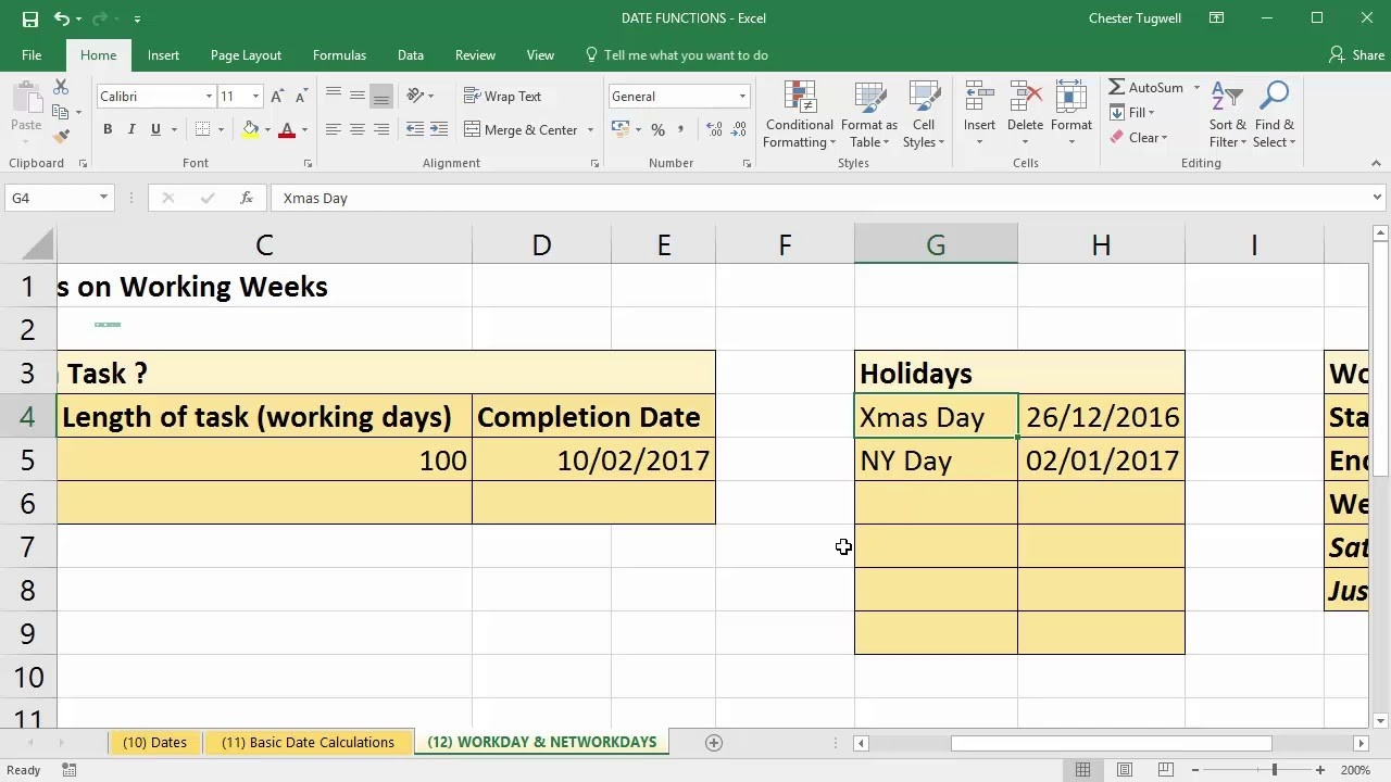 Use Excel To Add Days To Date Excluding Weekends And Holidays-Hour Countdown In Excel Template