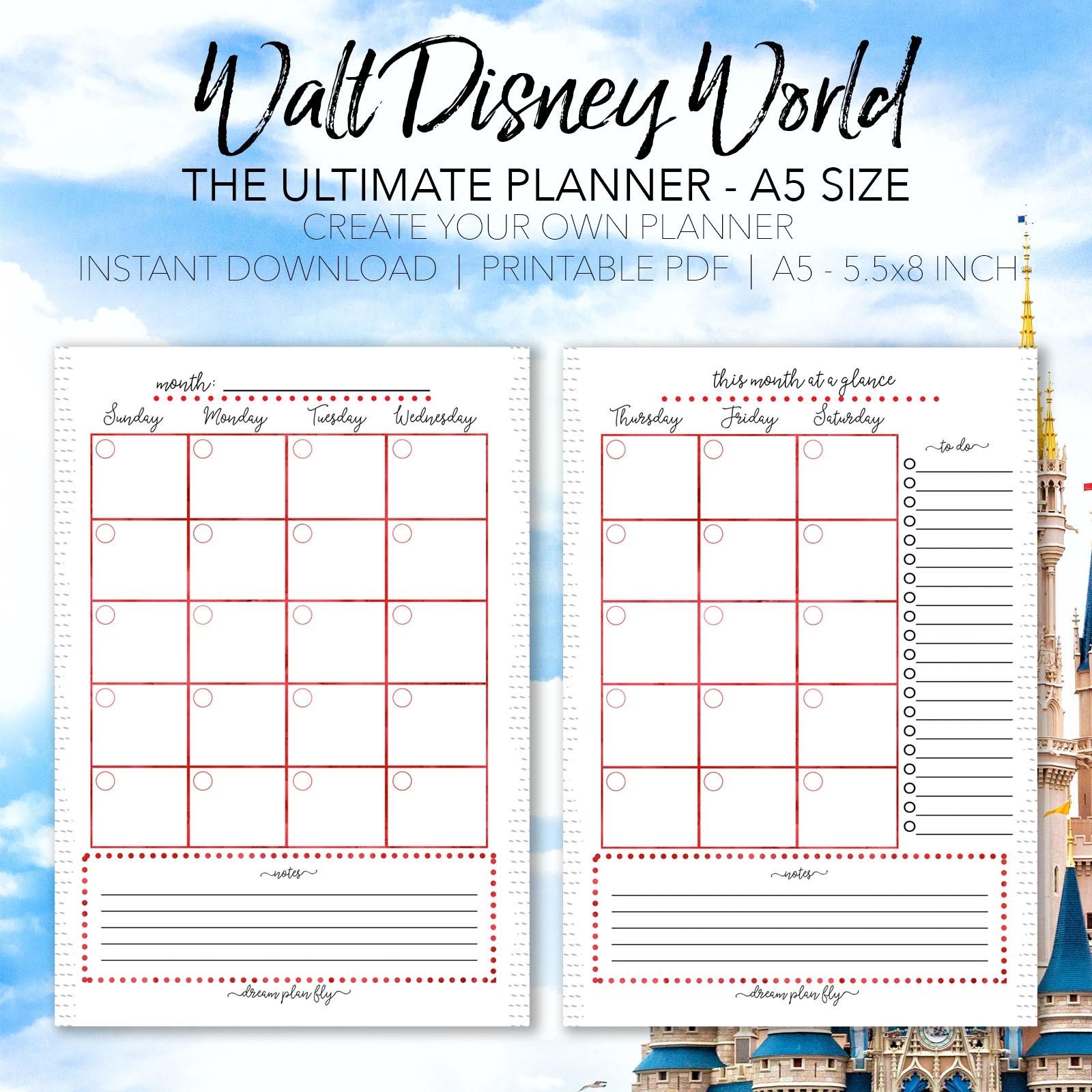 Vaction Planner - Wpa.wpart.co-Disney World Word Document Template