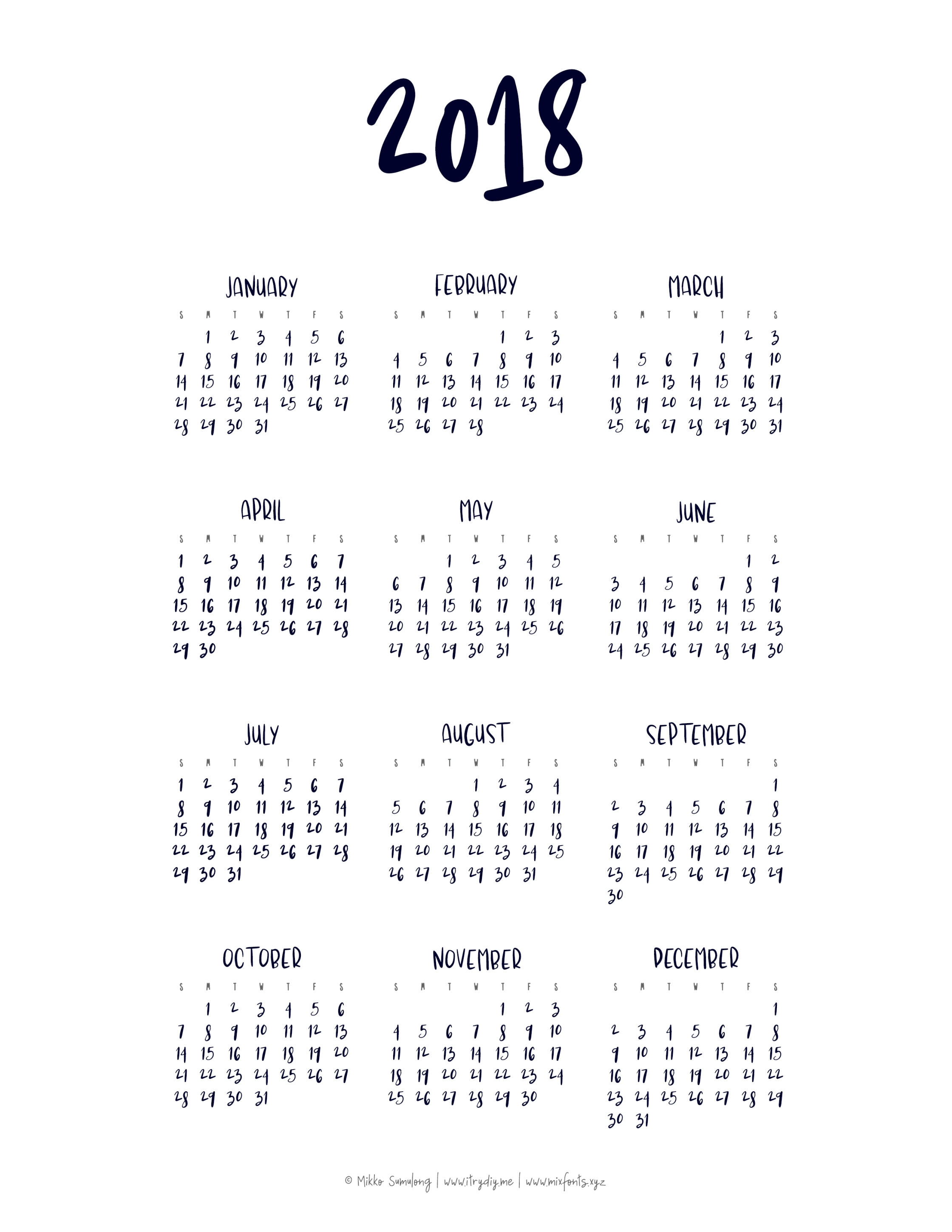 Year At A Glance Calendar | Printable Yearly Calendar, At A-At A Glance Monthly Calendar Printable