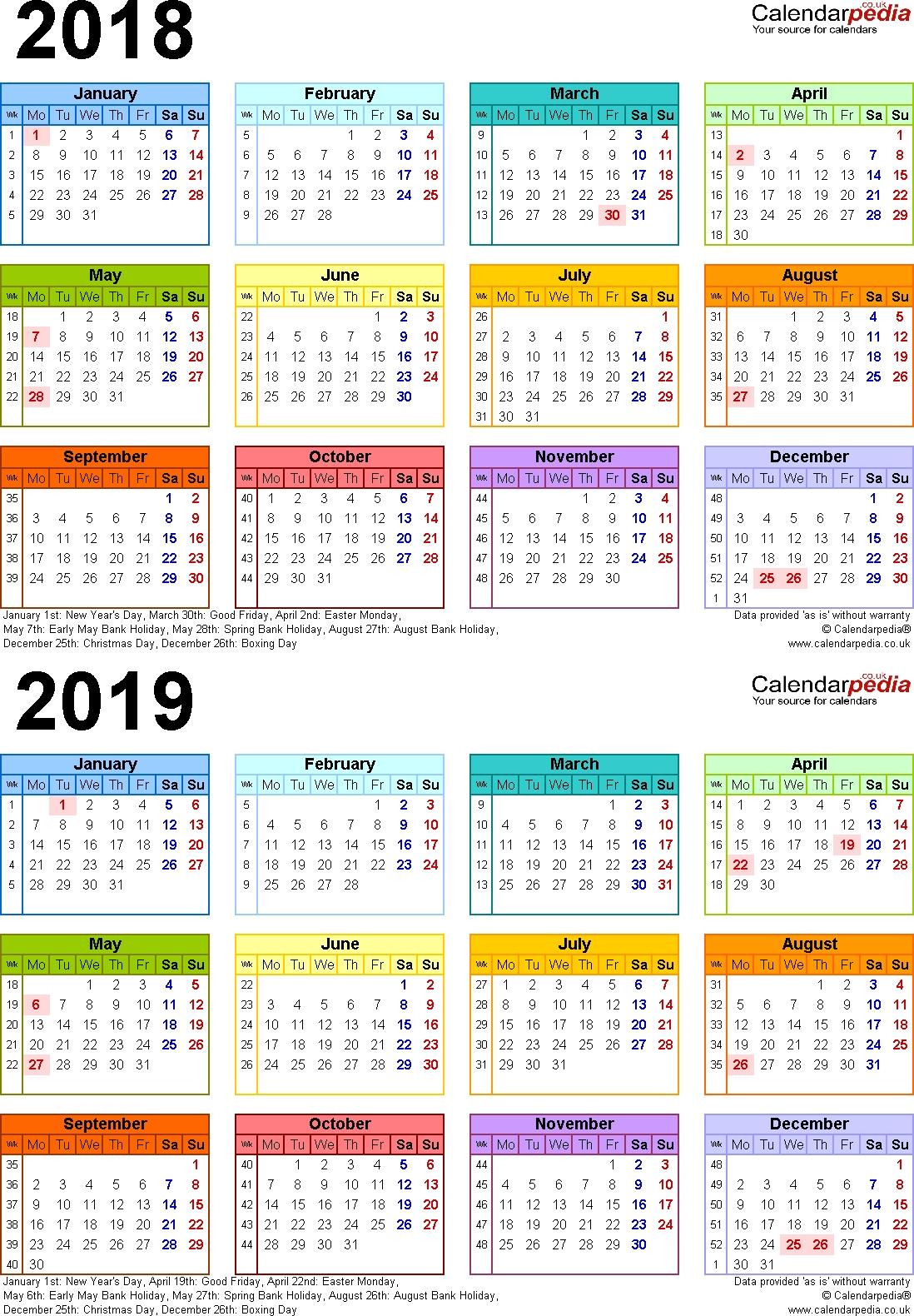 2 Year Calendar Planner - Remar-2 Year Pocket Calendar Template