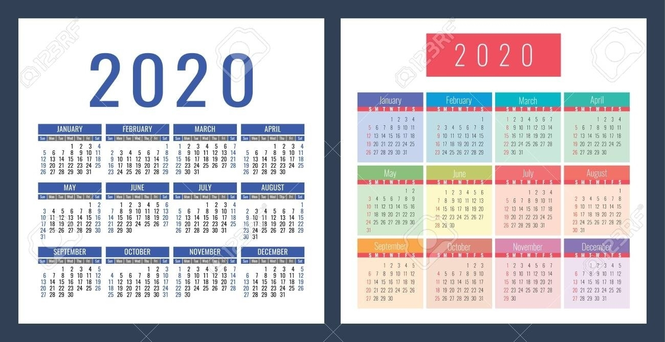 2 Year Pocket Calendar Template | Monthly Printable Calender-2 Year Pocket Calendar Template