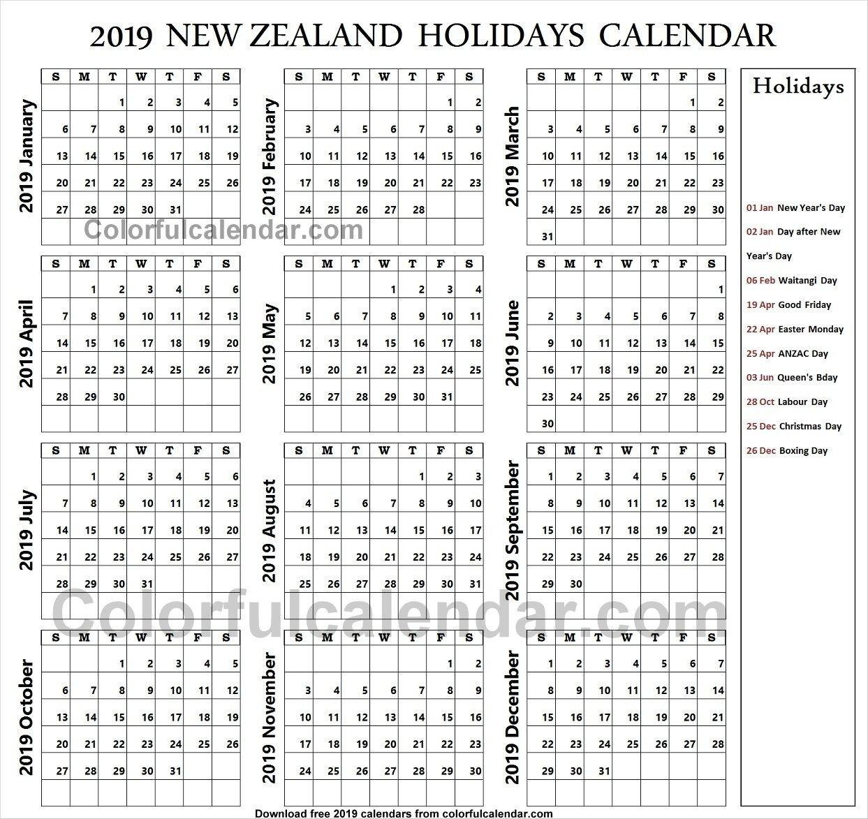 2019 School Holidays New Zealand Calendar | School Holidays-School Holidays Nz Calendar