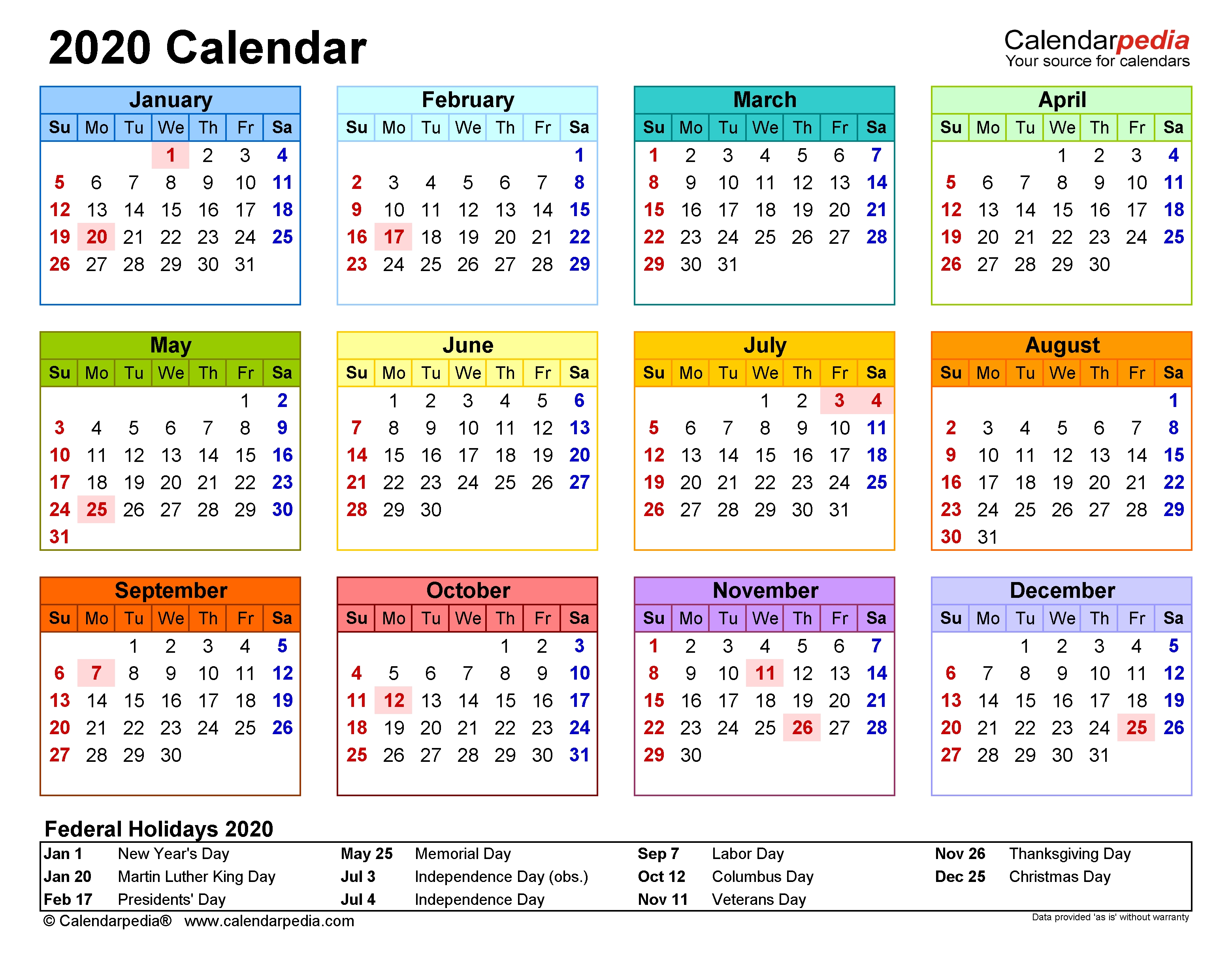 2020 Calendar - Free Printable Microsoft Excel Templates-Staff Calendar Template 2020