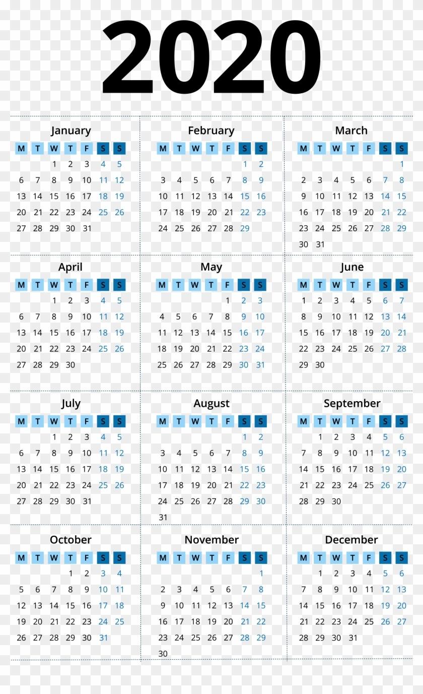 2020 Calendar Png Image - 2014 Calendar Year Clipart-Payroll Calendar Template 2020