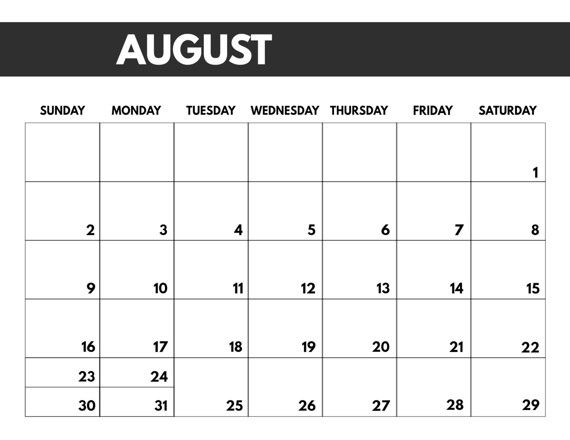 2020 Free Monthly Calendar Template - Paper Trail Design-8.5 X 14 Blank Calendar Templates