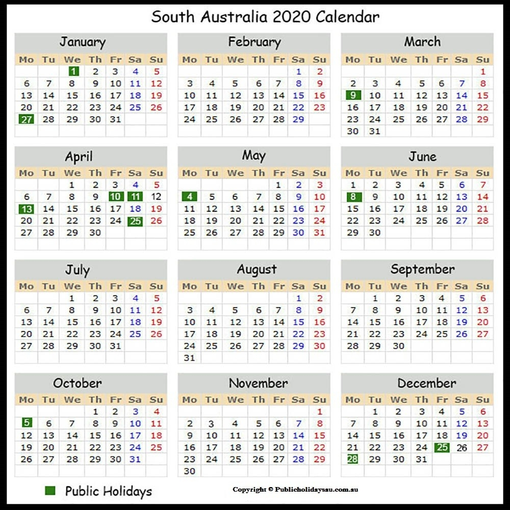2020 Public Holidays Sa-Sa Calendar With Public Holidays 2020
