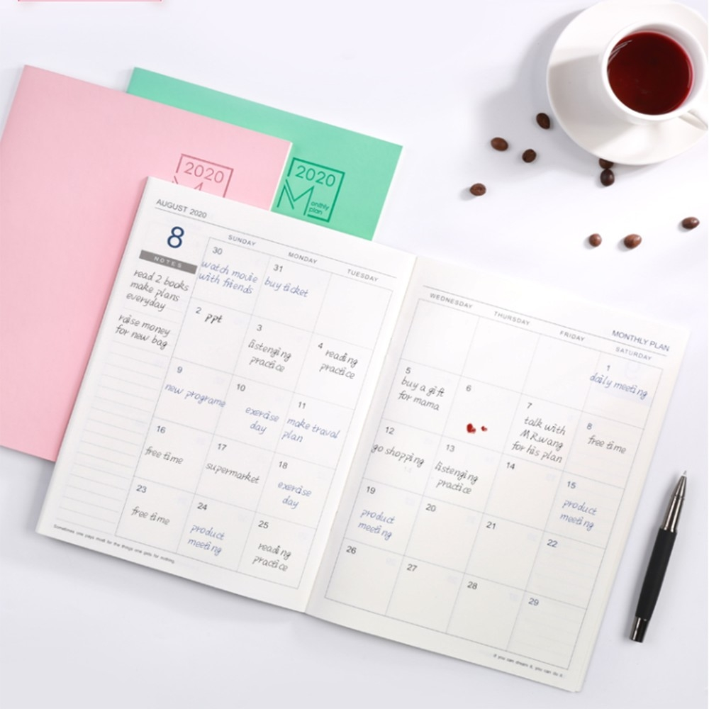 2020 Year Calendar Schedule Notebook Monthly Weekly Planner-Notebook With Monthly Calendar