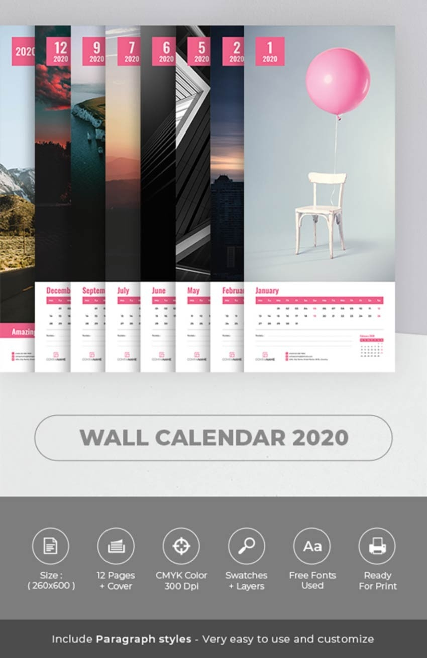 26 Best Indesign Calendar Templates (New For 2020)-2020 Calendar Template Indesign