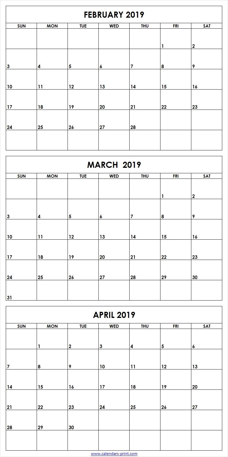 3 Month Calendar Print - Remar-3 Month Blank Printable