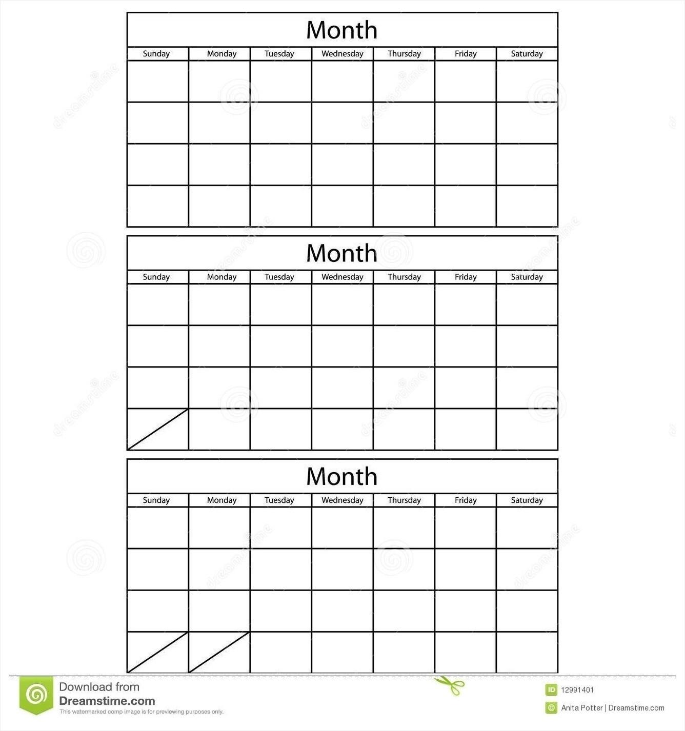 3 Month Calendar Template Word Printable 2017 Blank April-3-3 Month Blank Printable