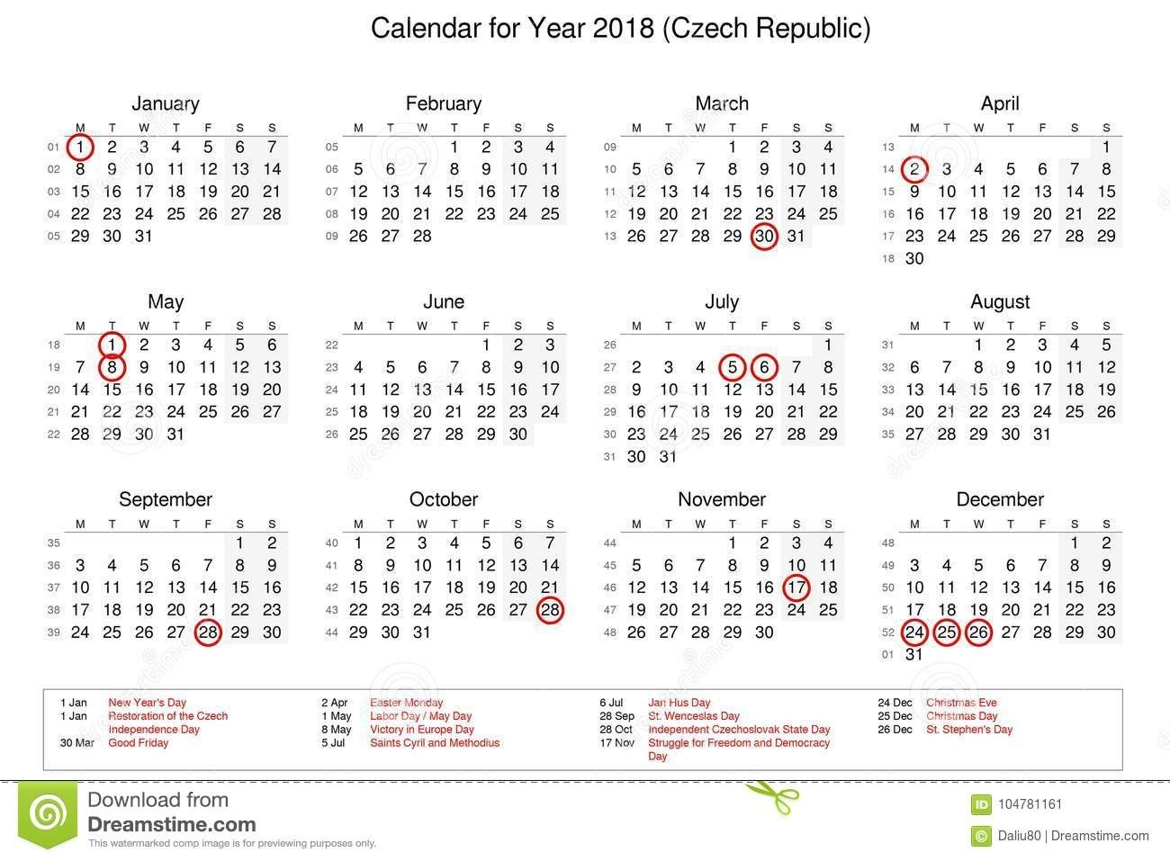 Calendar Of Year 2018 With Public Holidays And Bank Holidays-Calender With Public Holidays